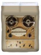 Vintage Tape Sound Recorder Reel To Reel Duvet Cover
