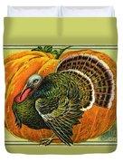 Vintage Thanksgiving Card Duvet Cover