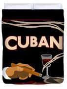 Vintage Tobacco Cuban Cigars Duvet Cover