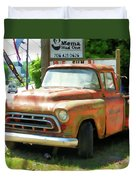 Vintage Tow Truck Duvet Cover