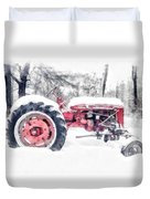 Vintage Tractor Christmas Duvet Cover