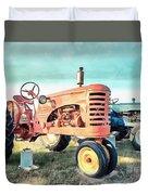 Vintage Tractors Acrylic Duvet Cover