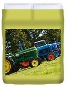 Vintage Tractors Duvet Cover