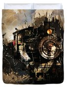 Vintage Train 06 Duvet Cover