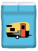 Vintage Travel Camper Transparent Duvet Cover