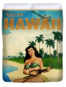 Vintage Travel Hawaii Duvet Cover