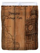 Vintage Travel London Duvet Cover