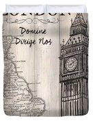 Vintage Travel Poster London Duvet Cover