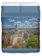 Vintage View Of The Cathedral Duvet Cover