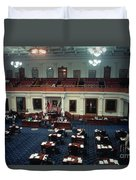Vintage View Of The Senate Chamber, The Texas Capitol, May 1990 Duvet Cover