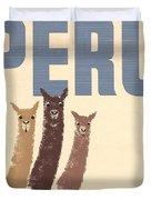 Vintage Wild Life Travel Llamas Duvet Cover