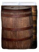 Vintage Wine Barrel Duvet Cover