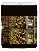 Vintage  Wine Bottles Duvet Cover