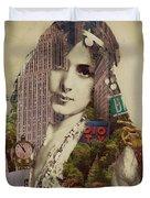 Vintage Woman Built By New York City 1 Duvet Cover