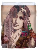 Vintage Woman Built By New York City 2 Duvet Cover