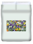 Viola In The Spring Are Especially Beautiful. Duvet Cover