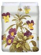 Viola Tricolour  Duvet Cover
