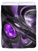 Violaceous Abstract  Duvet Cover