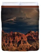 Violent Storm Over The North Rim Grand Canyon National Park Arizona Duvet Cover