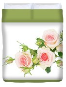 Garden Roses And Buds Duvet Cover