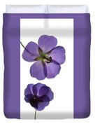 Violet Cranesbill Duvet Cover