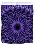 Violet Digital Mandala Duvet Cover