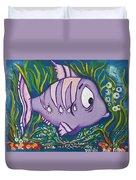 Violet Fish Duvet Cover