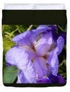 Violet Iris Duvet Cover