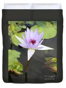 Violet Lotus Duvet Cover
