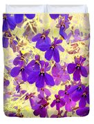 Violet Moths Duvet Cover