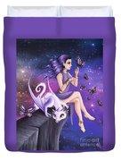 Violet Night Fantasy Duvet Cover