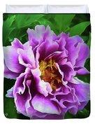 Violet Peony Duvet Cover