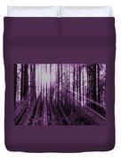 Violet Rays Duvet Cover