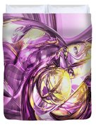 Violet Summer Abstract Duvet Cover