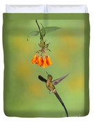 Violet-tailed Sylph Hummingbird Duvet Cover