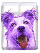 Violet Terrier Mix 2989 - Wb Duvet Cover