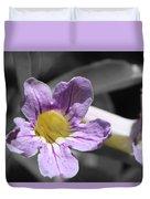 Violet Trumpet Vine Selective Color Duvet Cover
