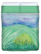 Violets In The Summertime Duvet Cover
