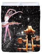 Violin And Ballet Dancer Number 1 Duvet Cover