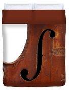 Violin Clef Duvet Cover