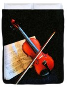 Violin Impression Duvet Cover