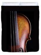 Violin Isolated On Black Duvet Cover