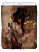 Violin Lady  Duvet Cover