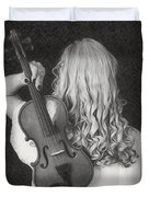 Violin Woman - Id 16218-130643-9888 Duvet Cover