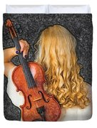 Violin Woman - Id 16218-130709-0128 Duvet Cover