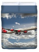 Virgin Airbus A340 G-vgas Duvet Cover