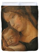 Virgin And Child 1470 Duvet Cover