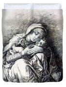 Virgin And Child Madonna Of Humility 1490 Duvet Cover