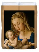 Virgin And Child With A Pear Duvet Cover