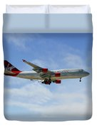 Virgin Atlantic Boeing 747-443 Duvet Cover